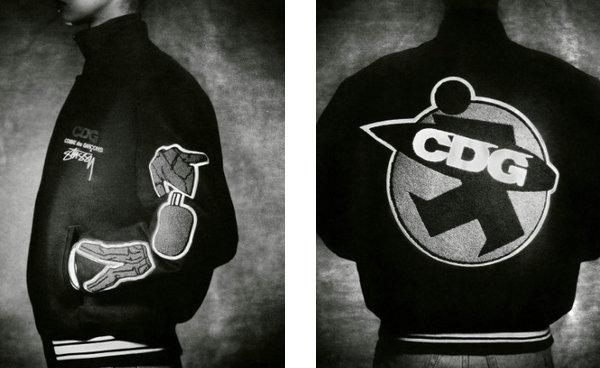 Stussy x COMME des GARÇONS 联名学院夹克发售.jpg