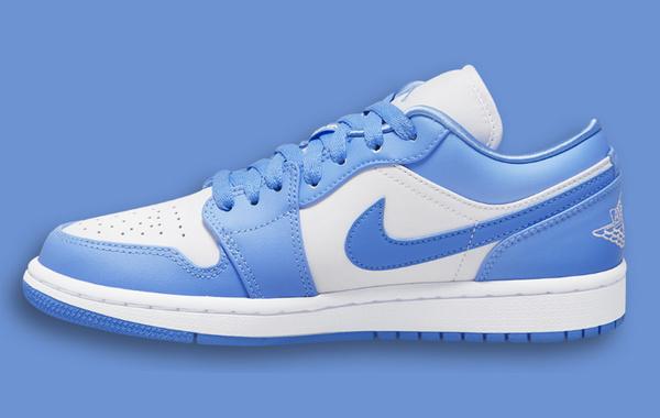 Air Jordan 1 Low 北卡蓝配色鞋款即将登场,色彩还原度更高