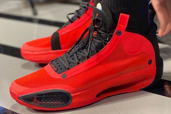 """黑红 Air Jordan 34""""Infrared 23""""配色鞋款预计 3 月上架"""