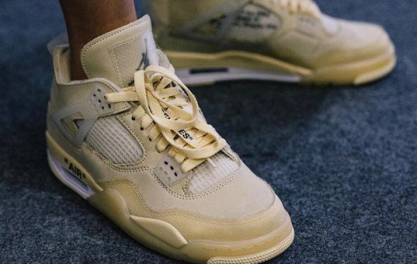 Off-White x Air Jordan 4 联乘乳白配色鞋款曝光,今年市售?