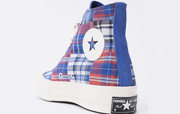 匡威 Chuck 70 Hi 拼布格纹鞋款发售,英伦风格