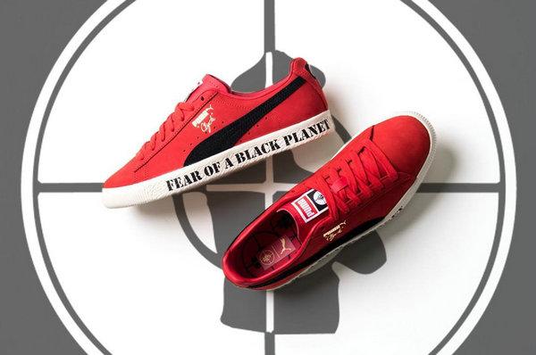 彪马 x Public Enemy 联名 Clyde 鞋款曝光,主打标语设计