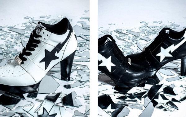 Bape LADY BAPESTA 系列鞋款明日登场,女生专属高跟鞋