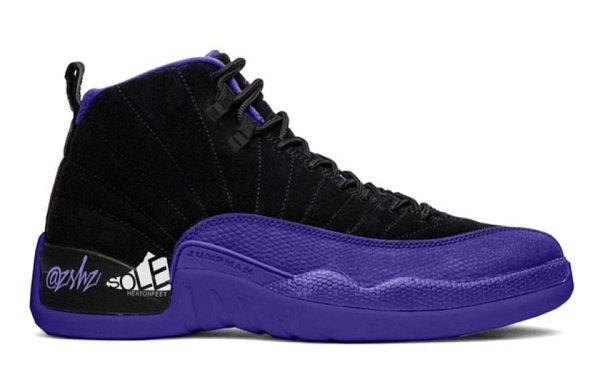 "Air Jordan 12 紫蜥蜴配色""Dark Concord""鞋款渲染图曝光"