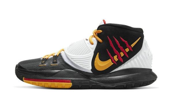 李小龙配色 Nike Kyrie 6 全新黑色版本登陆,视觉层次丰富