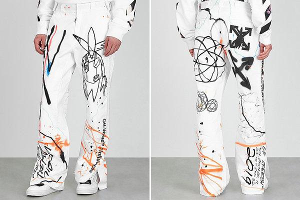 美潮 Off-White x Futura 全新联名涂鸦裤款上架发售