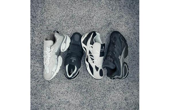 BAPE BLACK x 锐步联名鞋款发售,奢华真皮面料