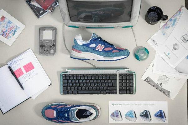 美产新百伦 M992 全新蓝粉青配色鞋款出炉,夏日气息浓烈