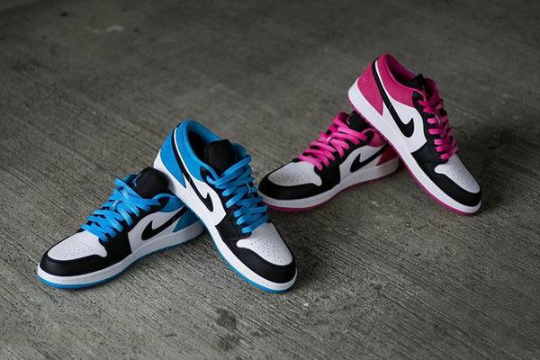 AJ1 Low 鞋款全新白蓝、白粉配色释出,抢眼黑脚趾构色!