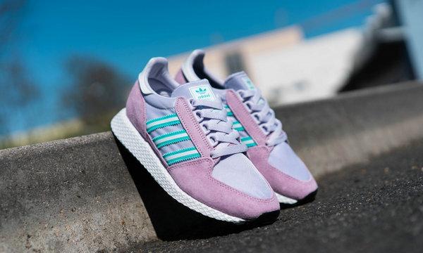 阿迪达斯三叶草 Forest Grove 鞋款清新粉紫配色1.jpg