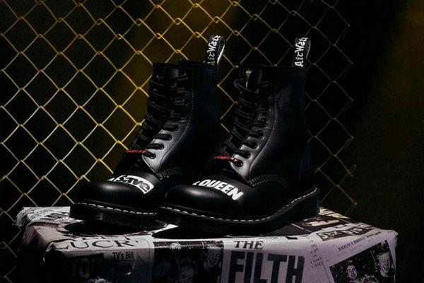 马丁博士 x Sex Pistols 全新联名系列鞋款曝光,绝对的朋克摇滚