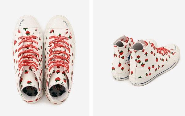 匡威 TOKYO x MUVEIL 联乘鞋款系列释出,草莓和蜜蜂