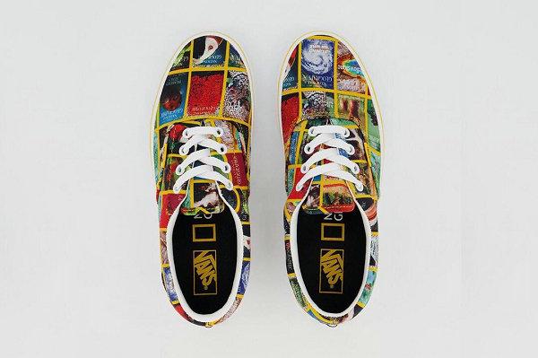 Vans x《国家地理》联名鞋款系列亮相,杂志封面与亮黄色边框吸睛