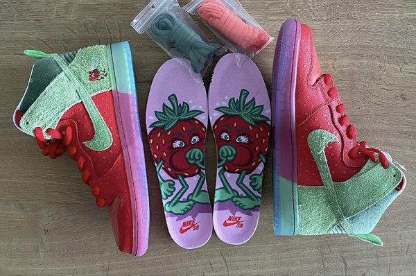 """咳嗽草莓 Dunk SB Hi""""Strawberry Cough""""配色鞋款推迟发售"""