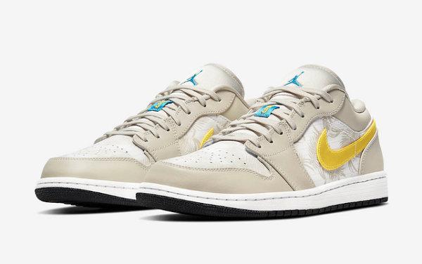 """Air Jordan 1 Low""""棕榈树""""配色鞋款下月发售,暗纹皮革"""