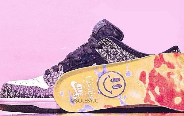 Civilist x Nike SB Dunk Low 联乘鞋款释出,高级质感~