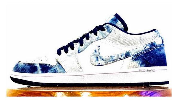 水洗单宁 Air Jordan 1 Low 鞋款实物曝光,瞬间种草