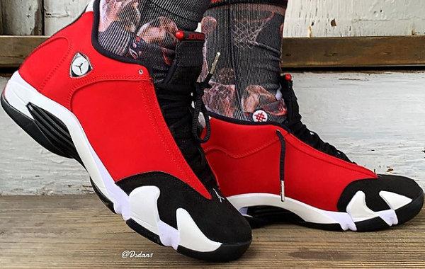 """Air Jordan 14""""Gym Red""""配色鞋款曝光,愤怒的公牛!"""