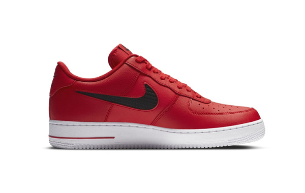 Nike Air Force 1 黑红鞋款官图释出,百搭好选择
