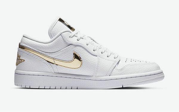 小白鞋 Air Jordan 1 Low 释出,液态金属元素加持