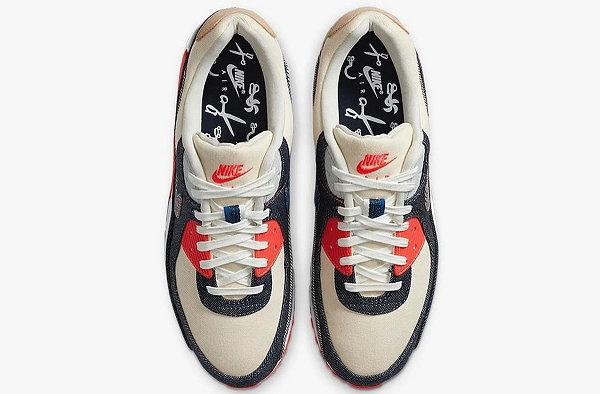 DENHAM x Air Max 90 联名鞋款抢先预览,招牌丹宁加持