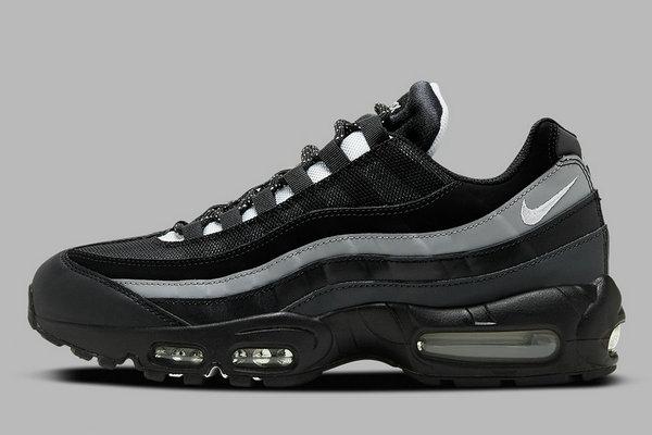 极简「黑白灰」Air Max 95 Essential 鞋款现身,秋冬主色调