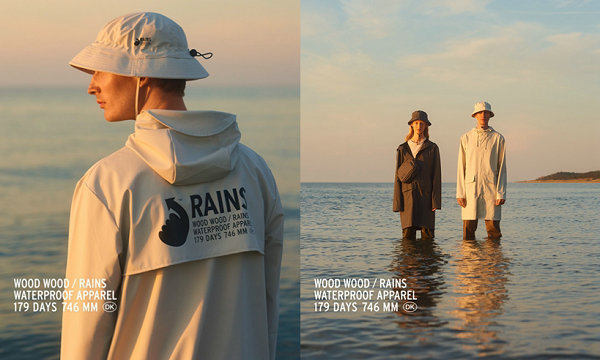 Rains x Wood Wood 全新联名企划预览,雨季专属设计