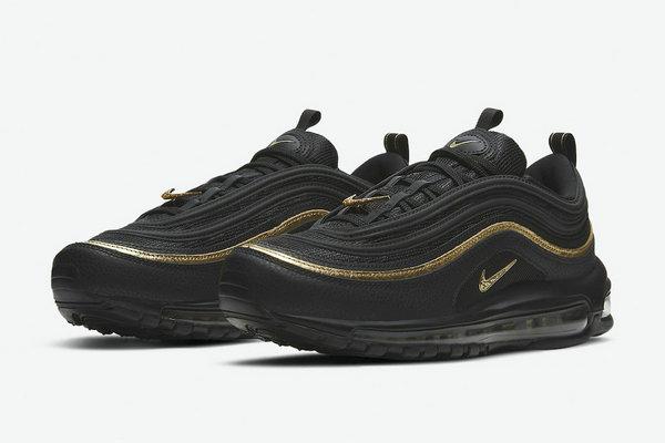 Air Max 97 鞋款经典黑金配色复刻在即,低调奢华