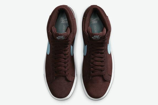 Blazer SB Mid 全新冰蓝酒红配色鞋款释出,强烈视觉冲击