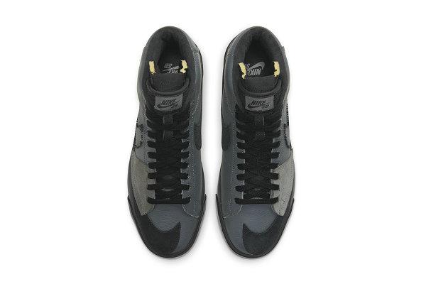 耐克 SB Blazer Mid 黑灰配色鞋款抢先预览,神似 Sacai 联名
