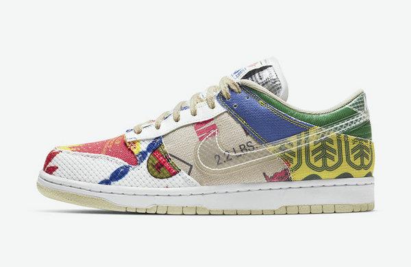 "Nike Dunk Low 鞋款全新""City Market""配色来袭"