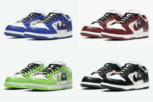 Supreme x Nike SB Dunk Low 联乘系列鞋款重磅来袭