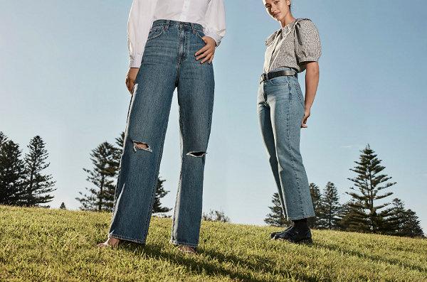 Levi's 全新夏季限定复古高腰牛仔裤系列上架,时髦腿精必备